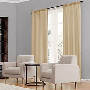 Eclipse ThermaBack Black Out Curtain Panels Beige
